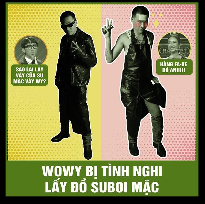 Rap Việt tập 12: Wowy bị nghi ngờ mượn váy của Suboi mặc 6