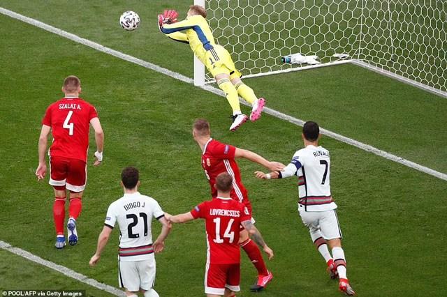 Ronaldo lập cú đúp, Bồ Đào Nha khiến Hungary câm lặng từ phút 84 0
