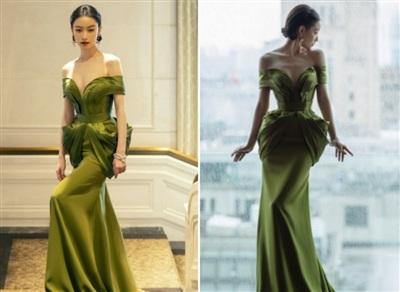 Chiếc váy 'khó chơi' từ màu sắc cho đến kiểu dáng nhưng Nghê Ni đã 'cân tất' bằng khí chất 'sang xịn' của mình.