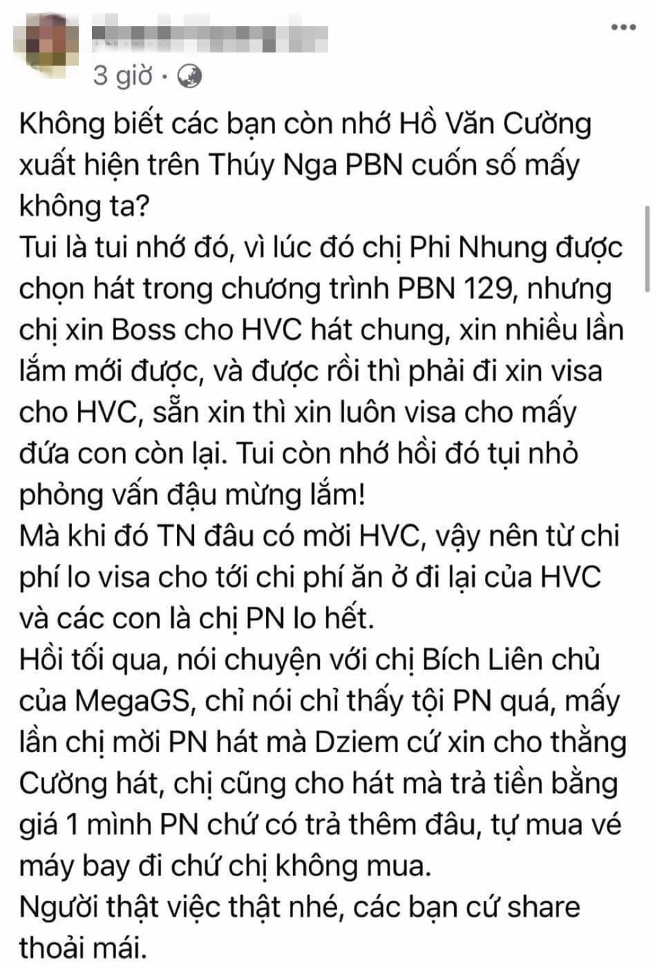 Status của đại diện Thuý Nga tại Việt Nam