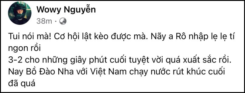 Sau trận Việt Nam - UAE: Á hậu Thúy Vân phán 'không công bằng', Phan Mạnh Quỳnh bóc phốt 'quả nhạc lạ' của đội bạn 9