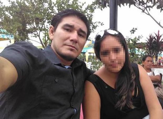 Elmer Lucano và Fiorela Liseth Díaz lúc còn mặn nồng