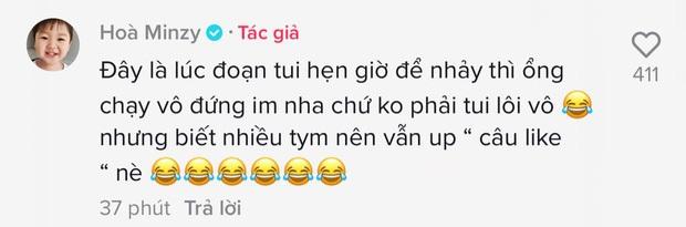 Tiện thể có Bo góp mặt, Hòa Minzy đăng luôn đoạn clip để câu like