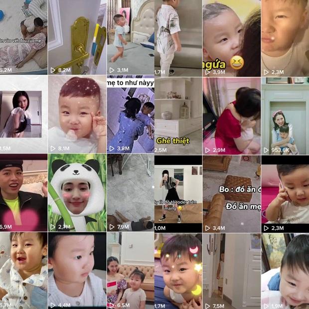 Những đoạn video có sự xuất hiện của con trai trên kênh TikTok của Hòa Minzy luôn đạt được những lượng view cao