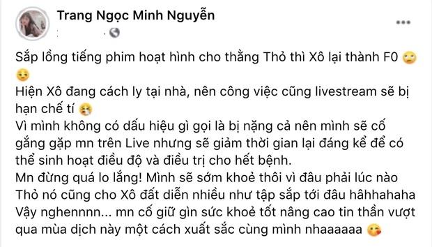 Thông báo của Lương Minh Trang.