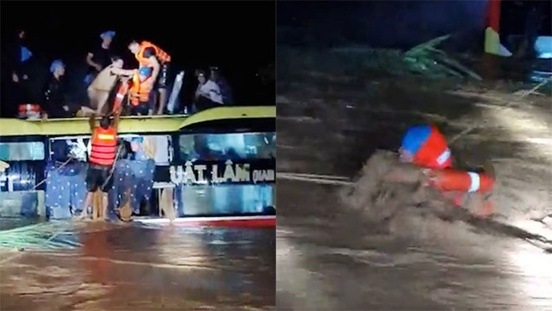 Hành khách trên xe bị lũ cuốn ở Quảng Bình: 'Giữa đêm tối nhìn thấy đội cứu hộ, chúng tôi tin mình sẽ được cứu'