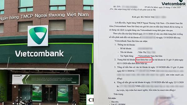 Phía Vietcombank chính thức lên tiếng giải đáp về 'tạm khóa báo có' gây xôn xao dư luận những ngày qua