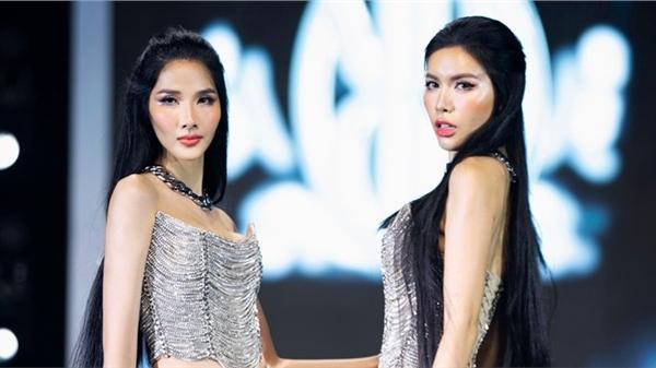 Minh Tú - Hoàng Thùy mặc sexy sải bước cùng nhau trên sàn catwalk sau mùa dịch