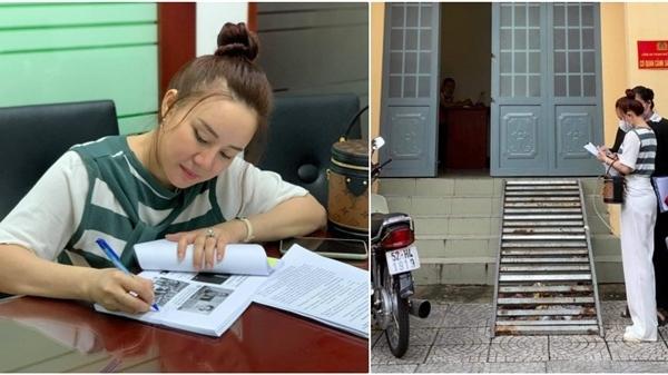 Ca sĩ Vy Oanh có mặt ở Công an TP.HCM để làm đơn yêu cầu khởi tố bà Phương Hằng