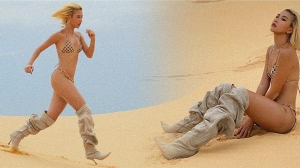 Bức ảnh mặc bikini chạy trên cát gây tranh cãi trở lại, Quỳnh Anh Shyn: 'Xem ảnh bằng một con mắt thoáng hơn đi xem nào'
