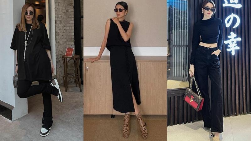 Street style sao Việt tuần qua: Hà Tăng, Yến Nhi và dàn mỹ nhân lên đồ sành điệu với trang phục tông đen