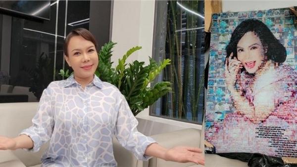 Vừa hoàn thành cách ly sau khi trở về từ Mỹ, Việt Hương được tặng quà vô cùng đặc biệt