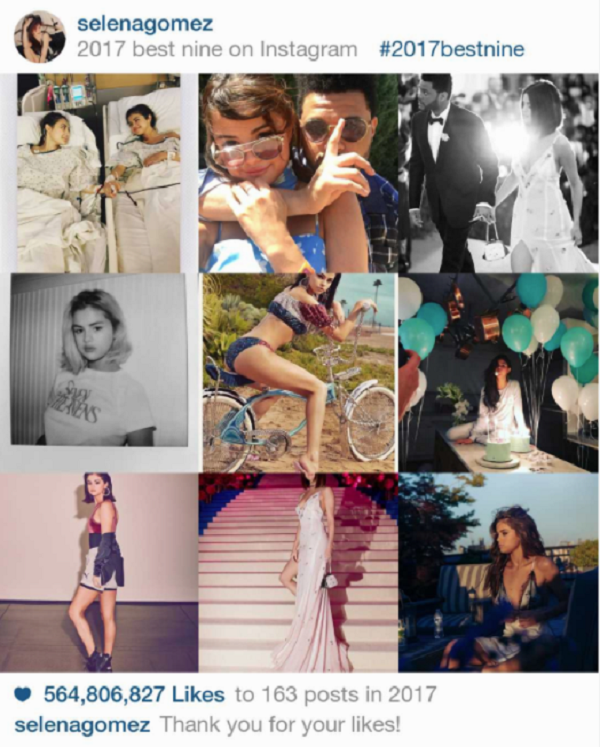 Instagram 2017 và #BestNine: 9 bức hình hot nhất từ Kim Kardashian, Kylie Jenner, Beyoncé, Selena Gomez 4