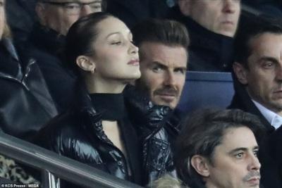Khoảnh khắc David Beckham ngắm Bellad Hadid đến mức không nỡ nhắm mắt cũng lọt vào ống kính phóng viên