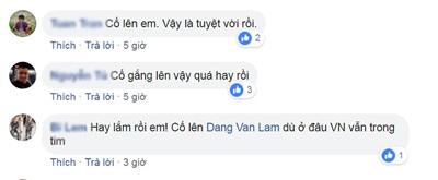 Đông đảo người hâm mộ gửi lời động viên, an ủi tới thủ môn Đặng Văn Lâm.