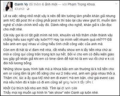 Quản lý cũ của Thu Minh và Vy Oanh lời qua tiếng lại trên mạng xã hội