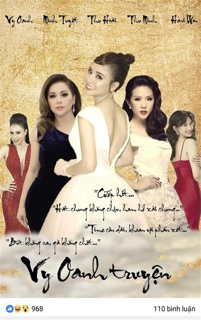Dân mạng chế bức ảnh về scandal của Vy Oanh như một bộ phim dài kì và kịch tính.