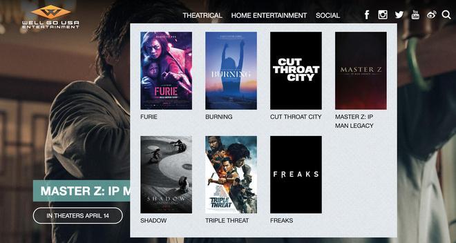 Poster Hai Phượng trên trang chính thức của hãng phim Mỹ.