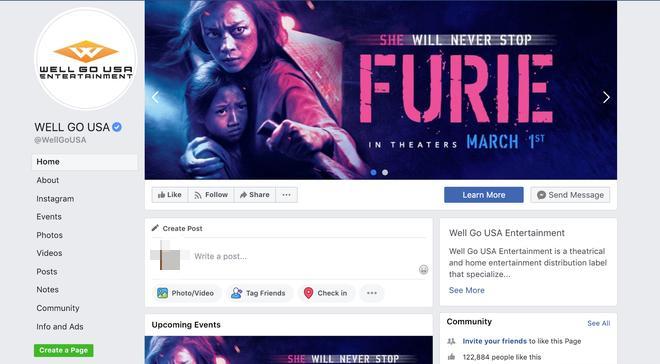 Hai Phượng được chọn làm ảnh bìa trang facebook của hãng.