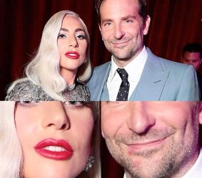 Dấu son đỏ quanh miệng Bradley Cooper? Ô kìa, cô nào bên cạnh cũng đang to son đỏ!