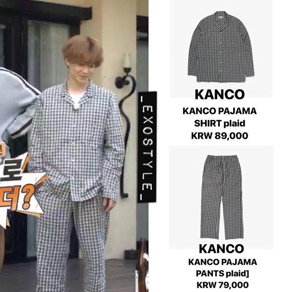 Đến cả Suho – chàng ca sĩ được mệnh danh có gia thế khủng nhất nhì K-biz cũng chỉ dám diện set đồ ngủ lên đến 168 KRW (3,5 triệu VNĐ). Trang phục này do thương hiệu Kanco thiết kế.
