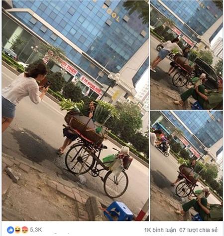 Bài đăng về hành động của hai cô gái hồn nhiên 'sống ảo' bên gánh xe hoa loa kèn rồi bỏ đi thu hút sự chú ý