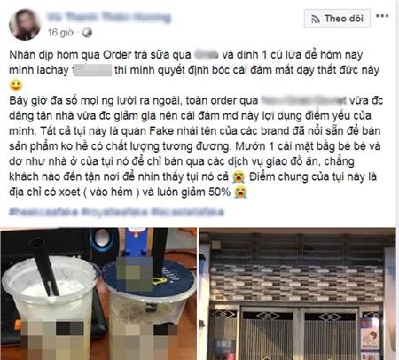 Bài đăng 'bóc phốt' các quán nhái thương hiệu trà sữa nổi tiếng, đánh lừa người tiêu dùng nhận được nhiều sự chú ý.