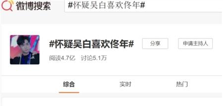 Từ khóa 'Tôi nghi ngờ Ngô Bạch thích Đồng Niên' được 470 triệu truy cập và 51000 bình luận