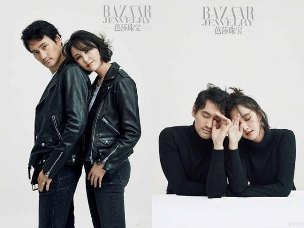 Viên Hoằng khoe bộ ảnh chụp cùng bà xã Trương Hâm Nghệ cho tạp chí Bazaar mới toe.