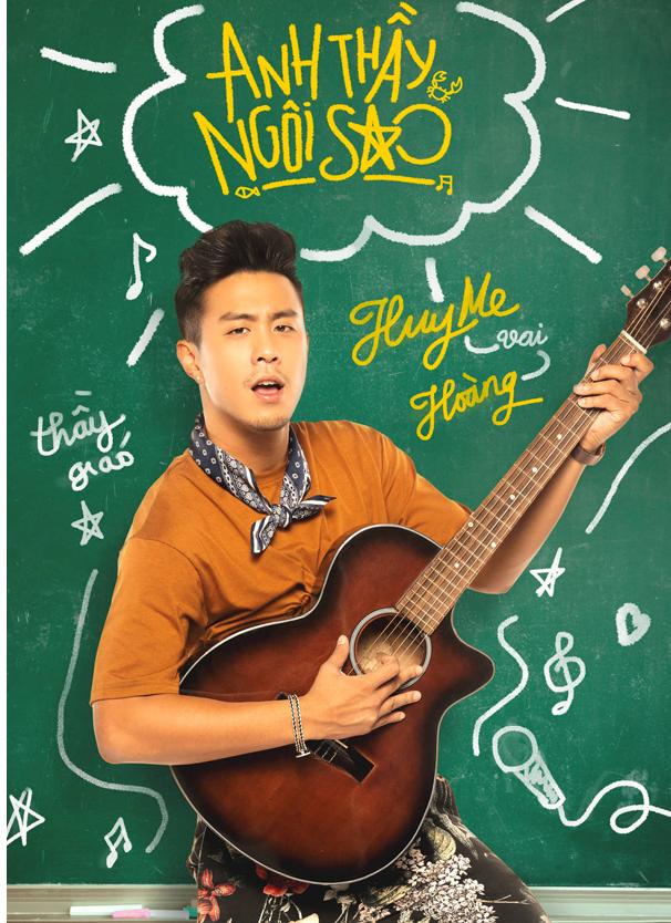 Huyme ôm đàn mộng mơ, Miu Lê cầm búa cực ngầu trong bộ poster nhân vật của 'Anh Thầy Ngôi Sao' 0