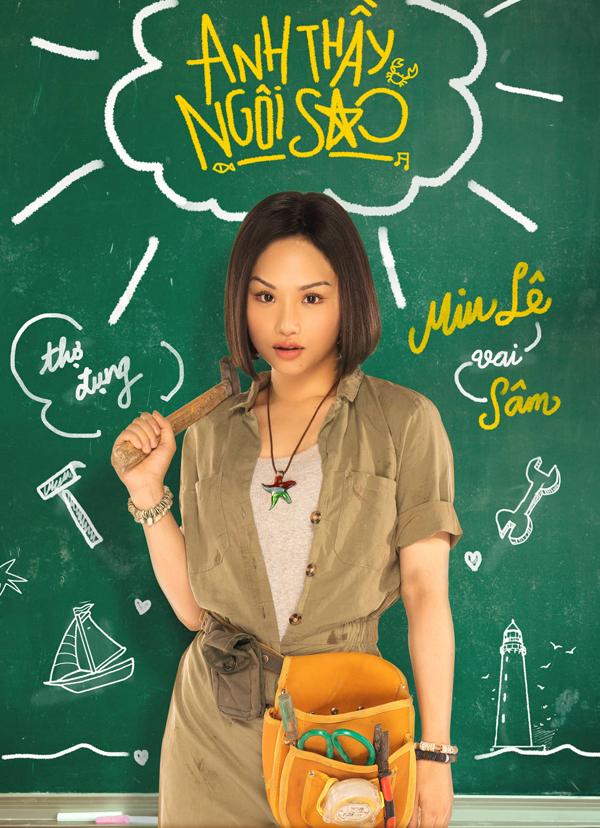 Huyme ôm đàn mộng mơ, Miu Lê cầm búa cực ngầu trong bộ poster nhân vật của 'Anh Thầy Ngôi Sao' 1