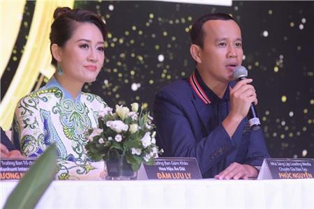 Chuyên gia đào tạo Phúc Nguyễn và Trưởng Ban giám khảo Đàm Lưu Ly.