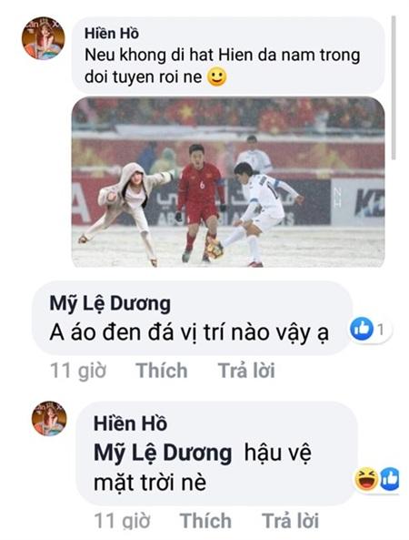 Hiền Hồ đọ sắc với dàn cầu thủ 'cực phẩm', Quang Hải khen: Hiền đẹp trai nhất team 2