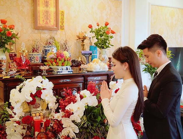 Lễ dạm ngõ của Hà My hôm 30/8 vừa qua.