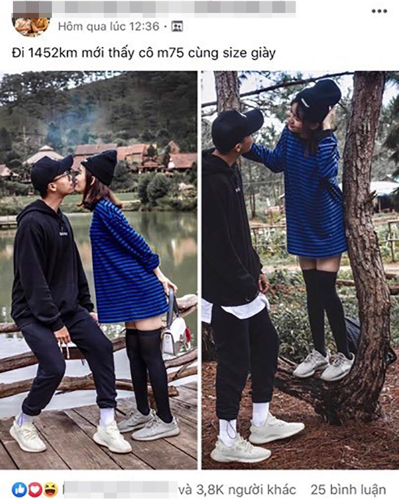 Bài đăng của cặp đôi trẻ nhận về nhiều sự chú ý trên mạng xã hội.
