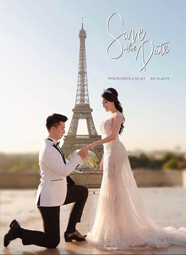 Âu Hà My mới được bạn trai cầu hôn ở Pháp.