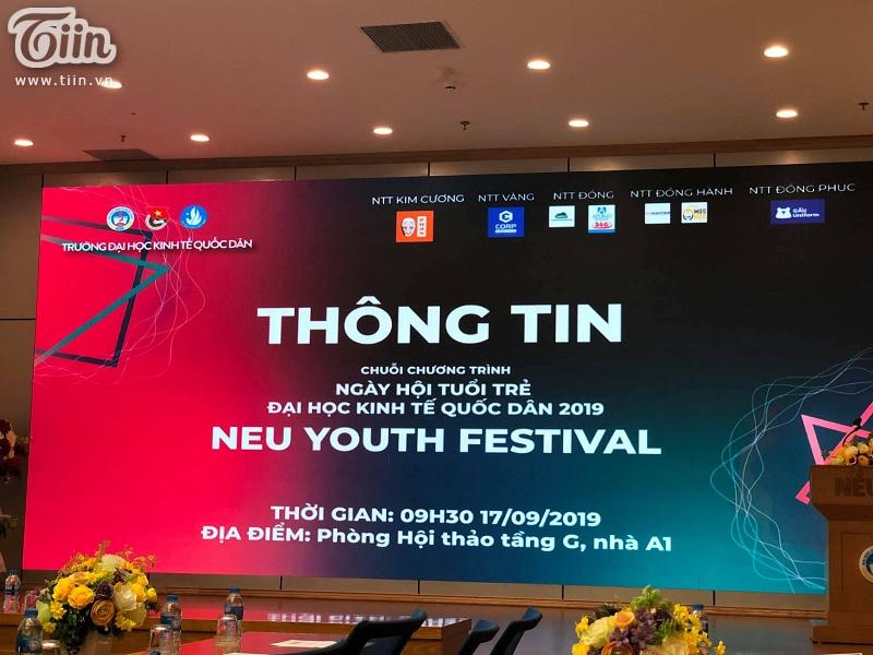 Buổi họp báo công bố thông tin về chuỗi chương trìnhNeu Youth Festival 2019