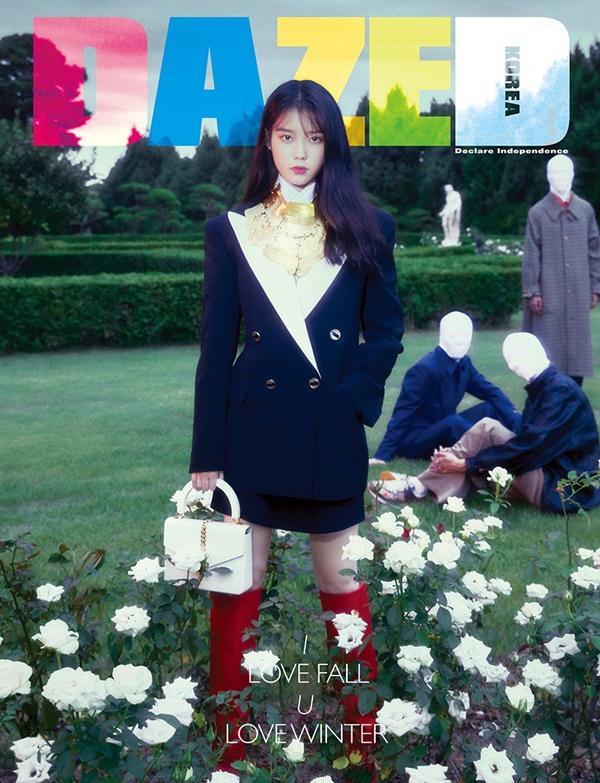 Sang chảnh trong 'Hotel Del Luna' chưa đủ, 'chị Nguyệt' IU tiếp tục khoe sắc mê mẩn trên bìa tạp chí 1