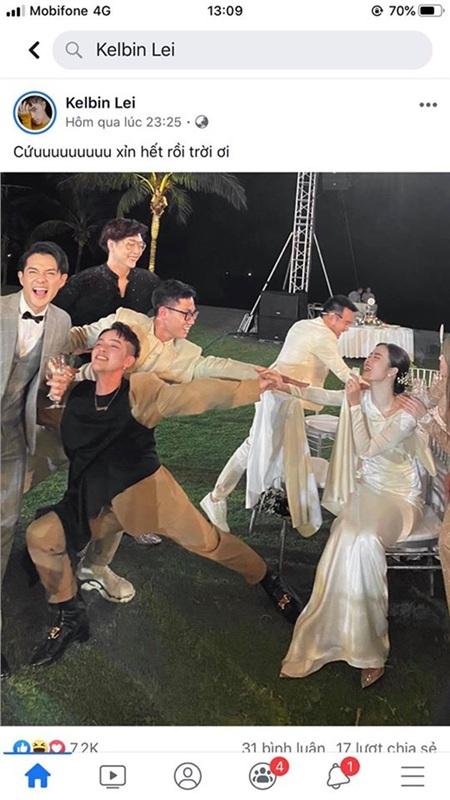 Kelbin Lei cùng hội bạn 'mất kiểm soát' trong đêm tiệc vui của đàn chị Đông Nhi.