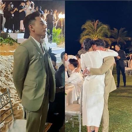 Hình ảnh đối lập 'Người đàn ông trưởng thành' - 'Cậu bé khóc nhè' của Issac trước và sau tiệc cưới.