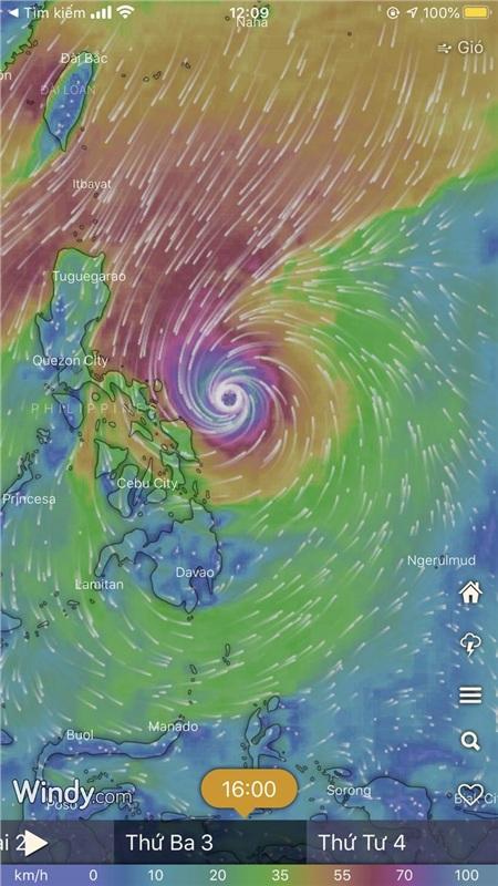 Dự báo thời tiết cho thấy nhiều khả năng, Philippines sẽ đối mặt với bão lớn với sức gió lên đến 112km/h vào ngày 4-12
