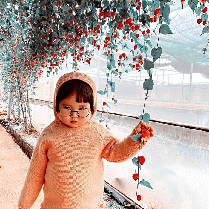 'Cưng xỉu' trước loạt biểu cảm phụng phịu siêu dễ thương của bé gái 2 tuổi tại Đà Lạt 9
