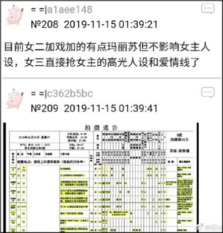 Hành trình quay phim được cư dân mạng liệt kê và chỉ ra nữ phụ một(Trương Huệ Văn) được thêm đất diễn nhưng không ảnh hưởng đến nữ chính, nữ phụ hai(Chu Khiết Quỳnh) trực tiếp giành phân cảnh quan trọng và tuyến tình cảm với nam chính của nữ chính