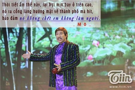 Câu nói 'cà khịa' xuất hiện ngay đầu tiên là của nhân vật Mõ do NSƯTQuang Thắng đảm nhận.