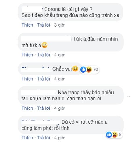 Một số bình luận của cư dân mạng