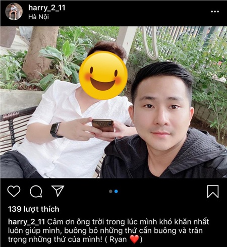 Hưng Harry đã đổi tên trên Instagram, bỏ biệt danh Lu của Nhật Lê