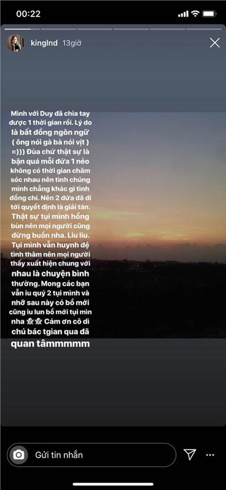 Linh Ngọc Đàm công khai chia tay bạn trai: do bất đồng ngôn ngữ, ông nói gà bà nói vịt 4