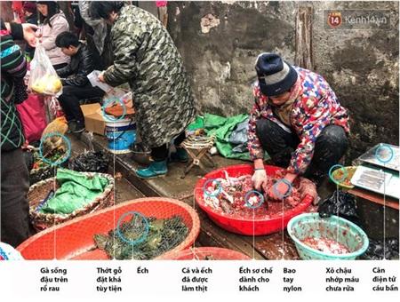 Hình ảnh thường thấy ở khu chợ Hoa Nam (Vũ Hán) trước khi bị phong tỏa vào ngày 1/1/2020