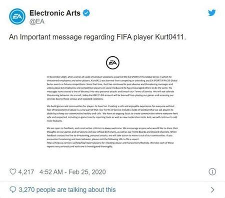 Chửi bậy khi livestream, game thủ nổi tiếng nhất nhì cộng đồng FIFA 20 bị EA cấm vĩnh viễn cả đời 2