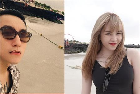 Trong dịp sinh nhật của Thiều Bảo Trâm vào tháng 9/2019, cả cô nàng lẫn 'Sếp' đều đăng tải bức hình chụp ở bãi biển. Dù góc chụp có khác nhau nhưng với con mắt 'cú vọ', dân tình đã soi ra được hai bức ảnh có sự xuất hiện của người đàn ông mặc áo cam, dáng ngồi giống hệt nhau. Bao nhiêu công giấu diếm đều lộ hết cả!